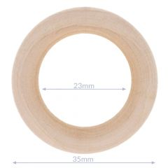 Houten ringen naturel buitenmaat 34-100mm - 5st