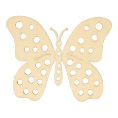 Houten ornament vlinder 10,2 cm - 10 stuks