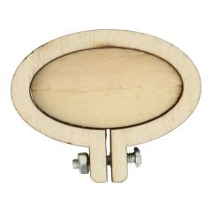Houten borduurring ovaal 4,5 cm - 10 stuks