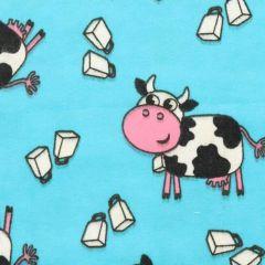 Tissu de Marie Stof flanel koeien 1,15m - 10m