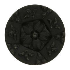 """Knoop op steel zwart met bloem fijn gedetaileerd 28"""" - 50st"""