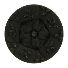 """Knoop op steel zwart bloem fijn gedetaileerd 34"""" - 40st"""