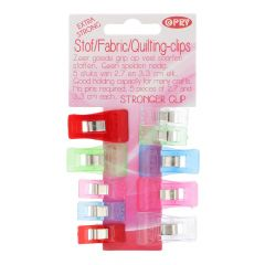 Opry Stof en quilting clips extra sterk 27-33mm - 6x10st