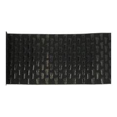 Antislip voetjes op zwart elastiek 15cm - 3m