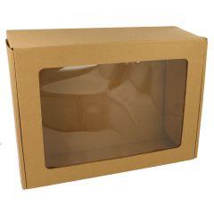 Doosje met venster 34x24x11cm - 50st
