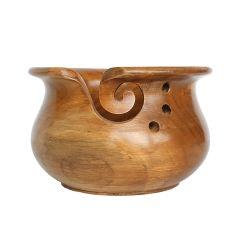 Scheepjes Yarn bowl teakhout 15x10cm - 1st