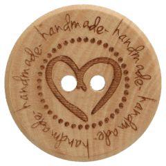 Knoop hout met hart maat 32-40 - 50st