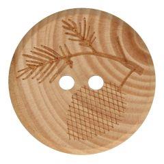 Knoop hout takje maat 32-40 - 50st