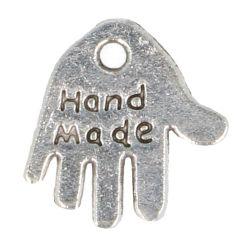 Bedeltje handje 'hand made' - 100st