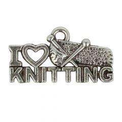 Bedeltje I love knitting - 100st