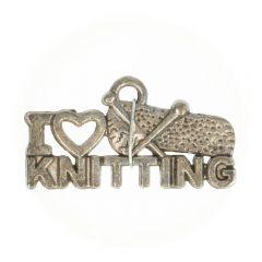 Bedeltje i love knitting - 100 stuks
