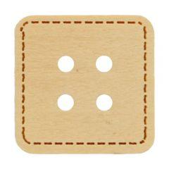 Knoop vierkant met stikrand maat 20 of 24 - 50 stuks