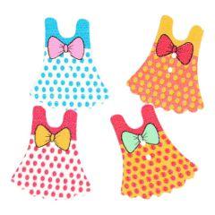 Knoop jurk - assorti kleuren in 1 koker - 50 stuks