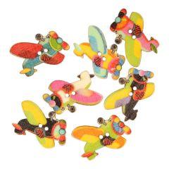 Knoop vliegtuig - assorti kleuren in 1 koker - 50 stuks