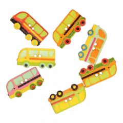Knoop bus - assorti kleuren in 1 koker - 50 stuks