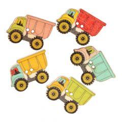 Knoop vrachtauto - assorti kleuren in 1 koker - 50 stuks