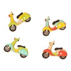 Knoop scooter - assorti kleuren in 1 koker - 50 stuks