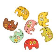 Knoop olifant - assorti kleuren in 1 koker - 50 stuks