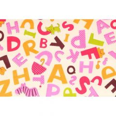Tissu de Marie Stof letters 1.50m - 10m