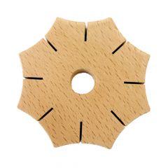 Knoop-ster van hout - 5st