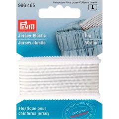 Prym Jersey tailleband 30mm wit-zwart 1m - 5st L