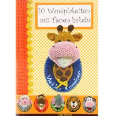 10 Wandplaketten mit Tieren häkeln - Anja Toonen - 1st