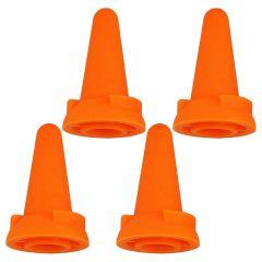Clover Jumbo naaldpunt beschermers oranje - 3x4st