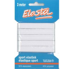 Elasta sport elastiek 11mm wit - 3m - 10st