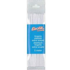 Elasta lingerie elastiek 2mm wit - 5m - 10st