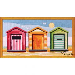 Tissu de Marie Borduurpakket strandhuisje 53x28cm - 1st