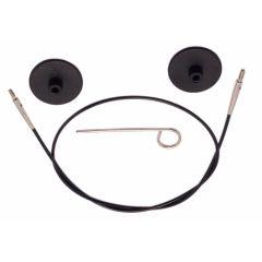 KnitPro Kabel met connector 40-150cm zwart - 3st