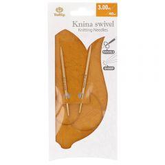 Tulip Knina Swivel rondbreinaald draaiend 40cm - 3st