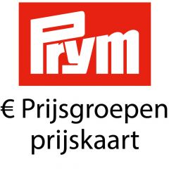 Prym Prijsgroepen per 01-01-2018 - Prijskaart - 1 stuks