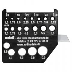Addi Breinaaldmeter zwart met mesjes - 1st