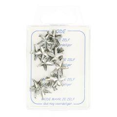 MMJZ Glamour ster zilver 3,80 (20 op kaart) - 5 kaart