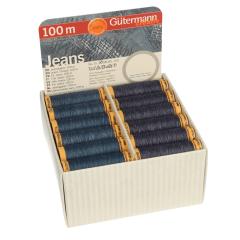 Gütermann Jeans storage en display box 36 spoelen - 1st
