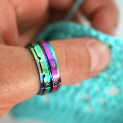 KnitPro Toerenteller ring 17,3-21,4mm regenboog - 3st
