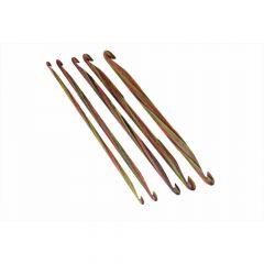 Knitpro Symfonie dubbelzijdige haaknaald hout 3-10mm - 3st.