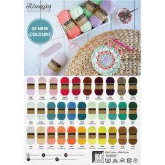 Scheepjes Softfun nieuwe kleuren poster A2 formaat - 1st