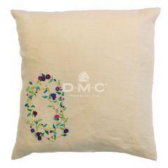 DMC Borduurkit kussenhoes Spring Florals 40x40cm - 1st
