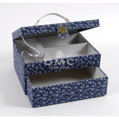 DMC Blue Boxes rechthoekige naaidoos met la 21x28x15cm - 1st