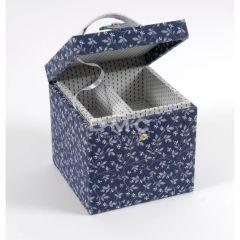 DMC Blue Boxes vierkante naaidoos 16x16x16cm - 1st
