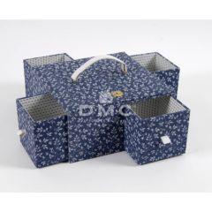 DMC Blue Boxes naaidoos met smalle lades 25x25x12,5cm - 1st